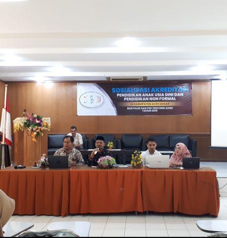 Disdikbud Aceh Besar Sosialisasi Akreditasi Bagi Pengelola PAUD dan PNF